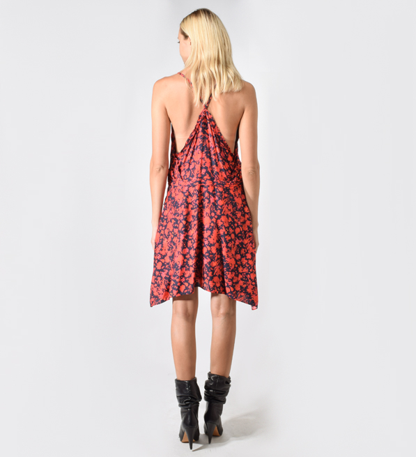 IRO Soul Floral-Print Twill Mini Dress