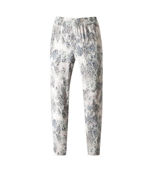 Lavender Brown Snake Jogger in Blush/Charcoal