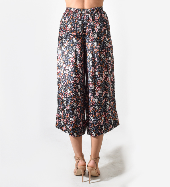 TryB212 Jude Pants in Navy w/ Floral Print