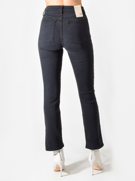 Alice + Olivia Fabulous High Rise Boot Cut Jeans in Night Owl