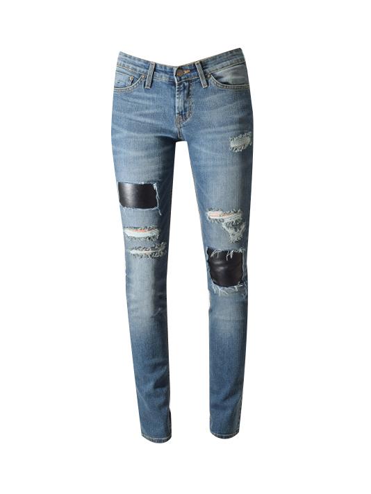 JET John Eshaya Leather Slim Jean