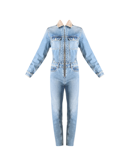 bb678fa0930 IRO Legend Jumpsuit in Denim Blue