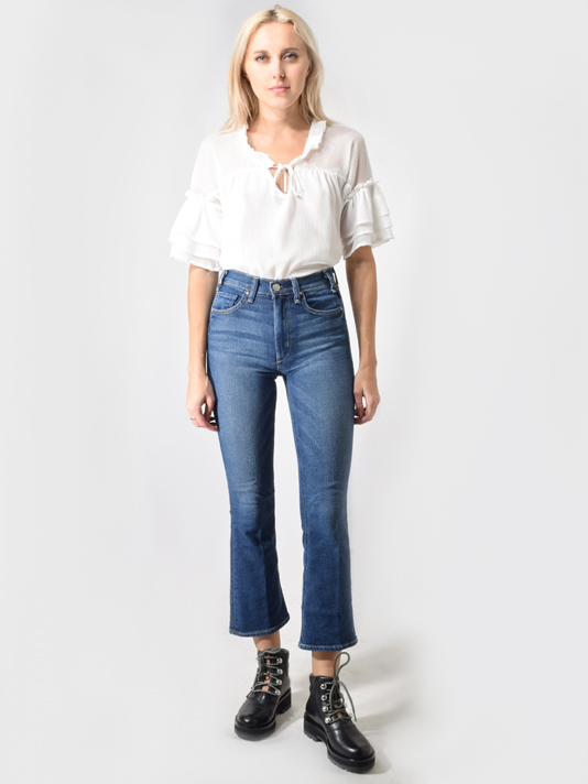 McGuire The Loyalist Cropped flare Jeans in Medium Blue