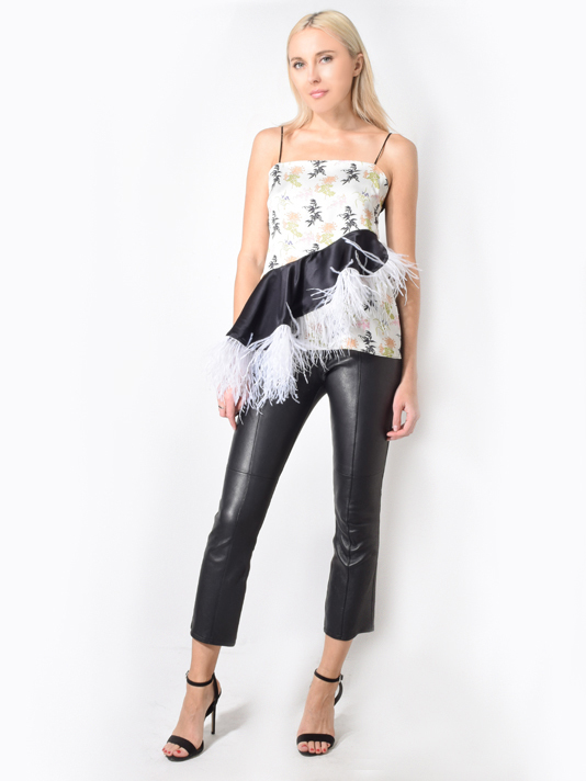 Stella Top w/ White Feathers in Multi