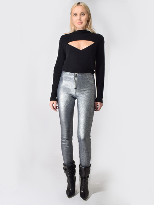 Madison Skinny w/ Ankle Zippers in Sound Black