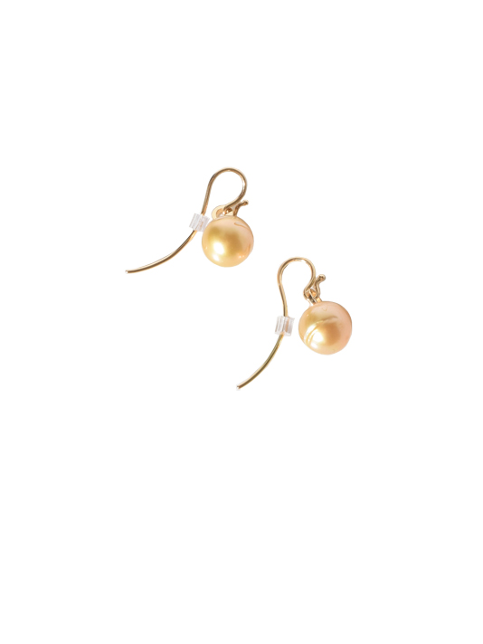 Liza Castro 18 Karat Yellow Golden South Sea Pearl Earrings