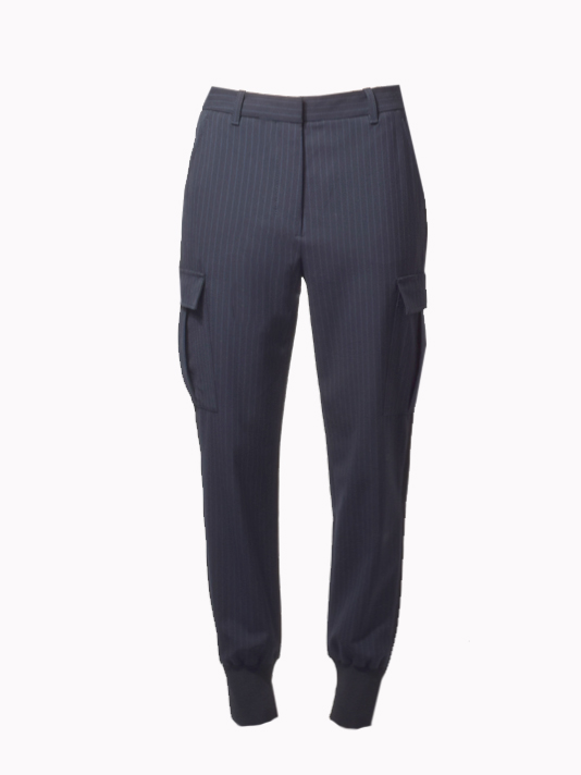 3.1 Phillip Lim Jogger w/ Cargo Pockets in Pinstripe