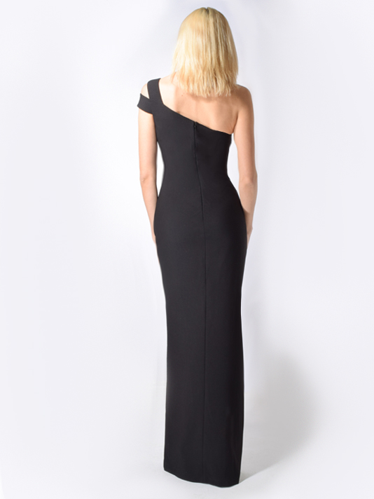 LIKELY Maxson One Shoulder Gown in Black