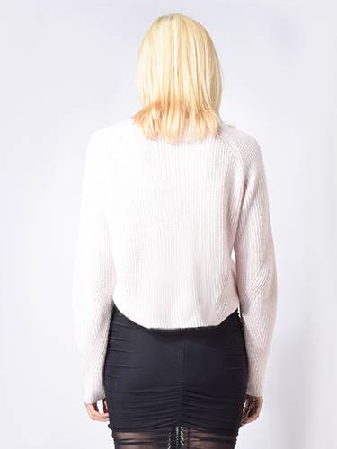 One Grey Day Neely Crop Pullover in Peony