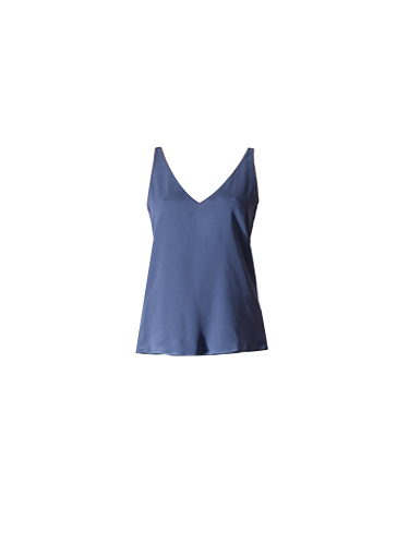 Lavender Brown V-Neck Cami in Denim Blue
