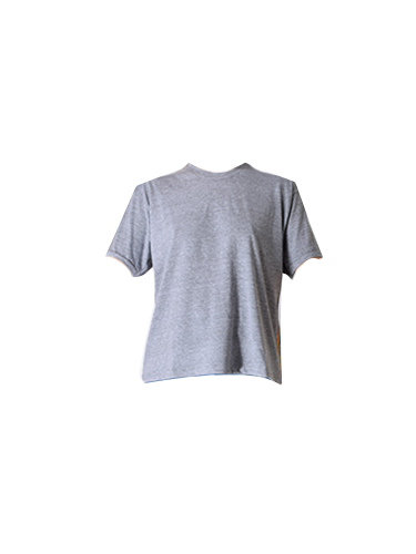 JET John Eshaya Football Tee w/ Rainbow Stripe in Grey