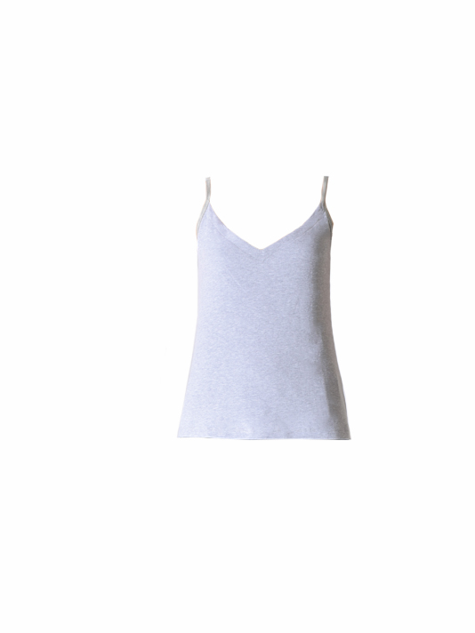 JET John Eshaya Ribbed Tank Top in Grey