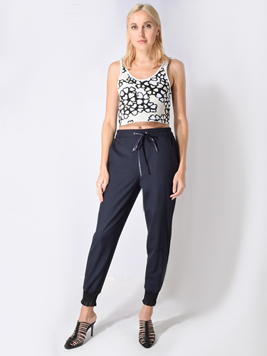 3.1 Phillip Lim Jacquard Cropped Tank in Floral