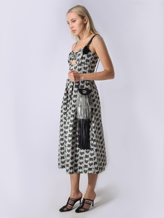Delfi Helen Maxi Dress in Black Floral Garden