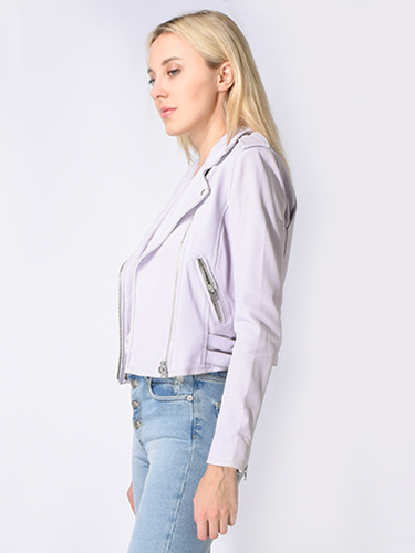 IRO Ashville Leather Jacket in Lilac