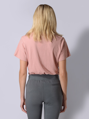 Maison T Sofia Cotton Tee in Skin Pink