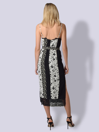 LIKELY Lia Dress in Ivory & Black Floral