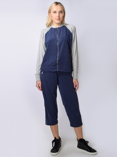 JET John Eshaya Loop Terry Chill Pant in Navy