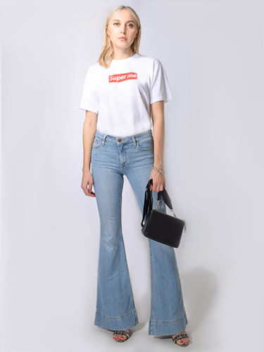 Alice & Olivia Beautiful Mid-Rise Bell Bottom Jean