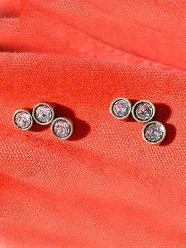 Avant Garde Lido Earring in Bronze