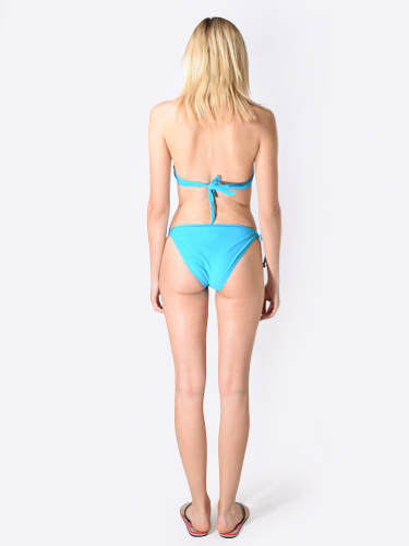 Mer-C Embroidered Strapless Push-Up Bikini in Turquoise