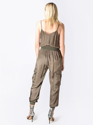 Cinq a Sept Amia Jumpsuit in Olive