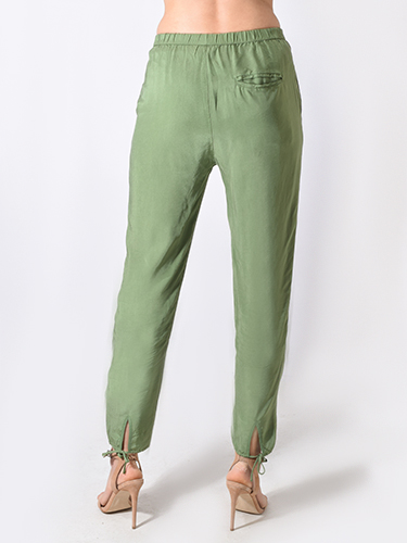 Humanoid Gathered Relaxed Fit Pant in Sage Green