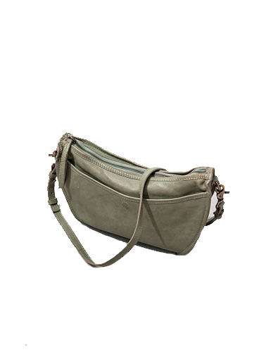 Humanoid Sage Green Leather Shoulder Bag