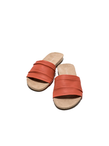 Humanoid Soy Leather Slipper in Coral