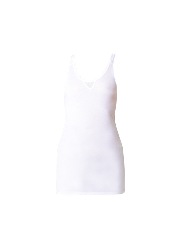 Humanoid Long Jersey Racerback Tank Top in White