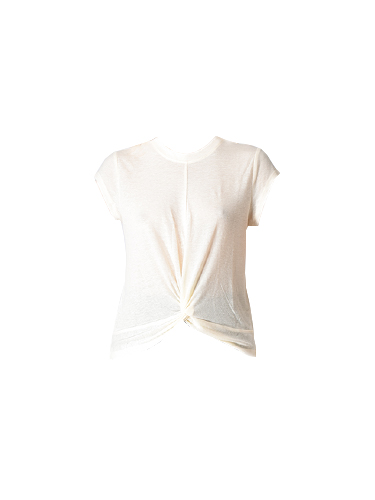 David Lerner Knotted Cap Sleeve Top in Sun