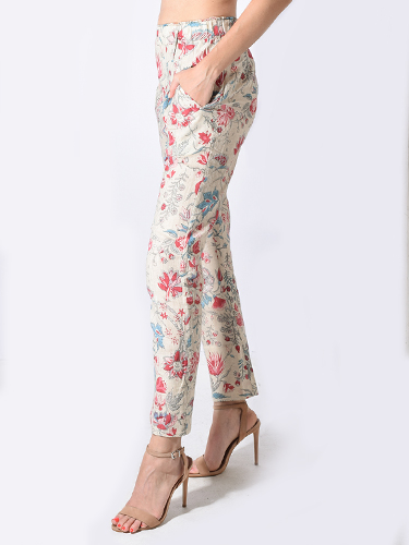 Laurence Bras Accountant Pant in Floral