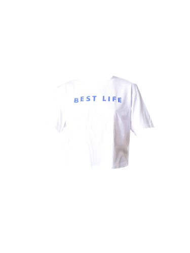 David Lerner Best Life Boxy Tee in White