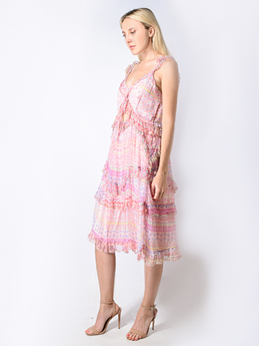 Let Me Be First Kiss Dress in Blush Pink