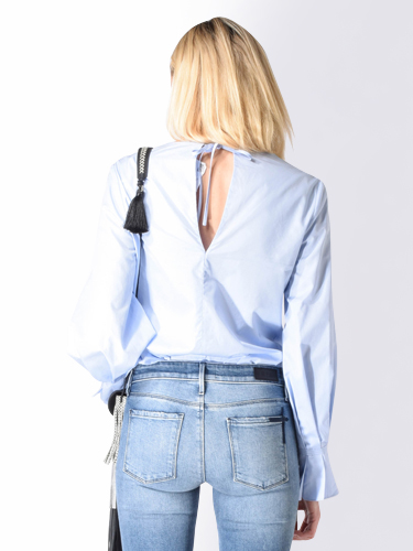 3.1 Phillip Lim Poplin Blouse in Baby Blue