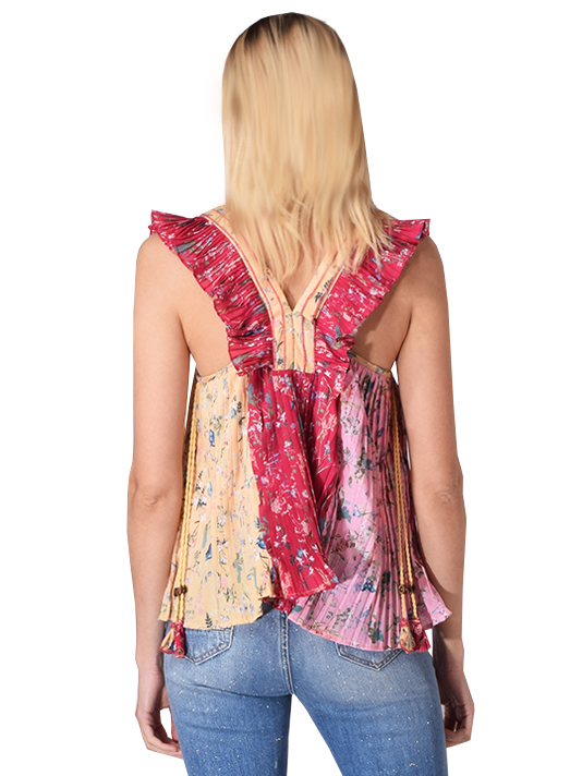Let Me Be Ready For Love Pleated Tank Top in Floral