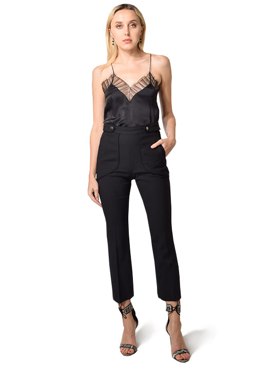 IRO Roskie Double Button Pant in Black