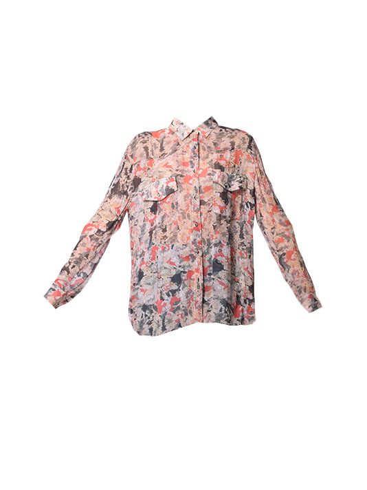 IRO Blaze Long Sleeve Button Down in Red Floral