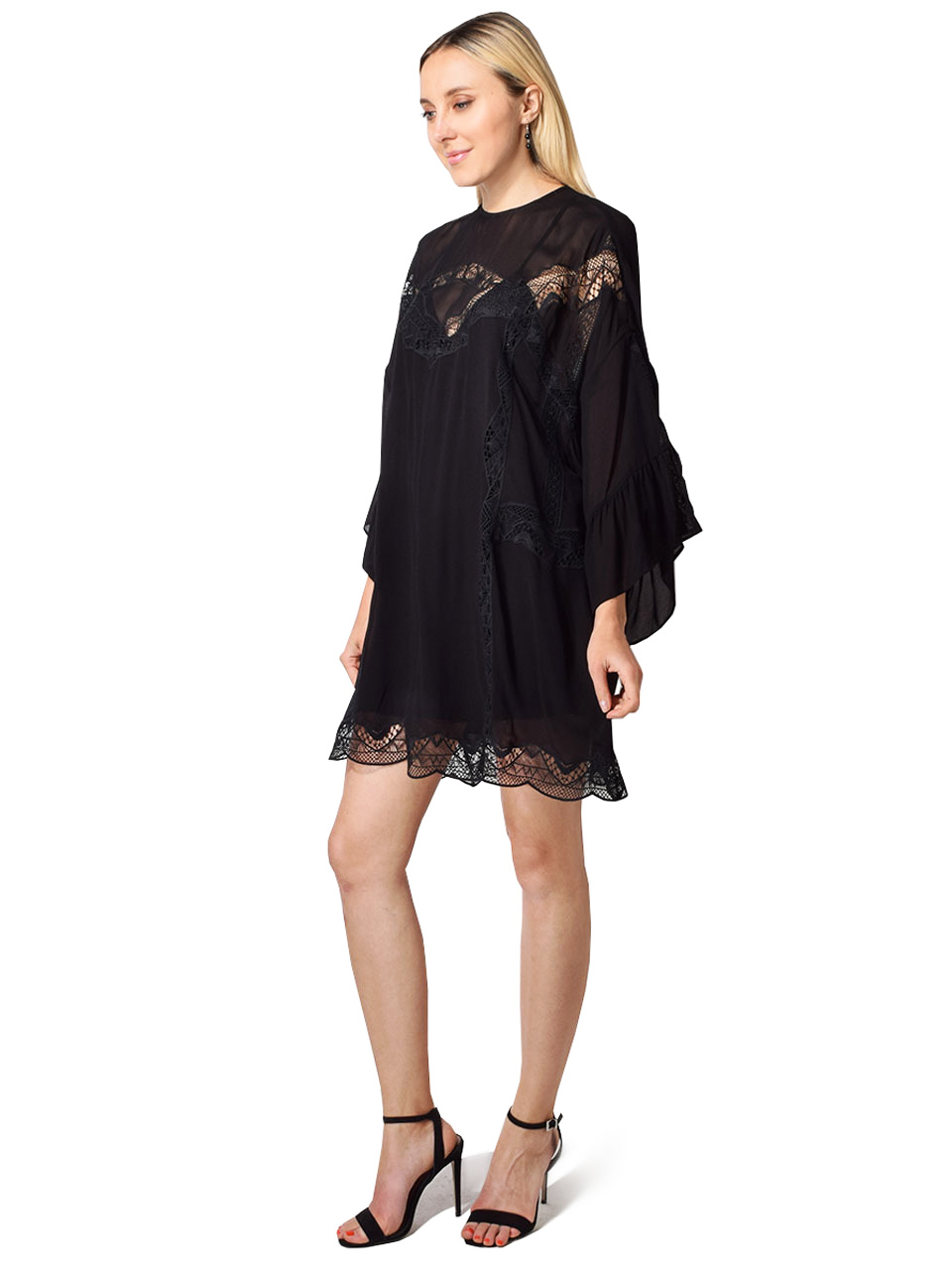 IRO Favila Embroidered Lace Dress in Black