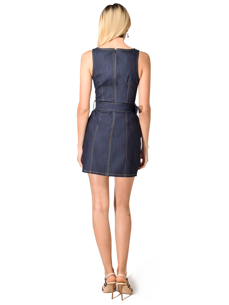 Cinq a Sept Gwyneth Belted Denim Mini Dress