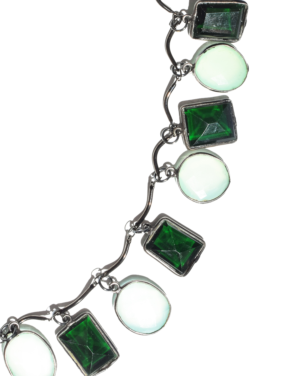 Ilene Kaufman Chalcedony Green Quartz Necklace