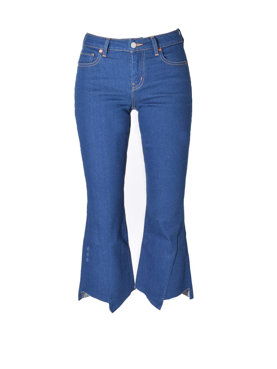 Etica Mick Cropped Jean in Pure Blue