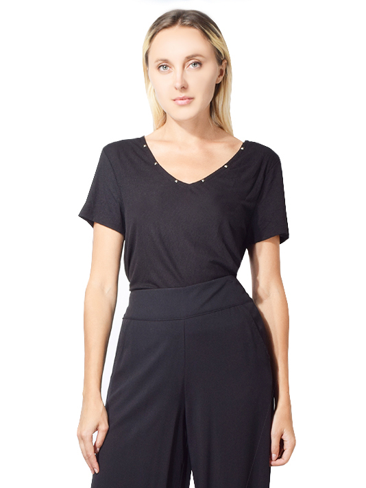 X1https://cdn11.bigcommerce.com/s-3wu6n/products/32192/images/104254/Ribbed_V-Neck_T-shirt_with_Studs_in_Black_back__96770.1565643622.244.365.jpg?c=2X2