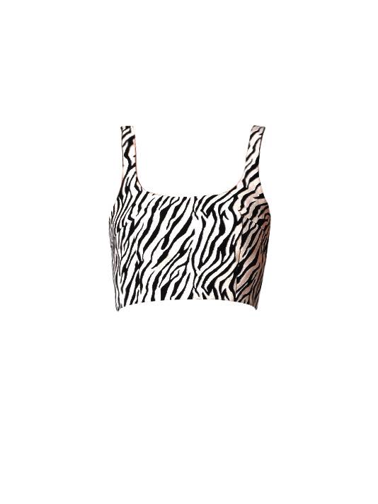 Bec & Bridge Cecile Cropped Top in Zebra Print