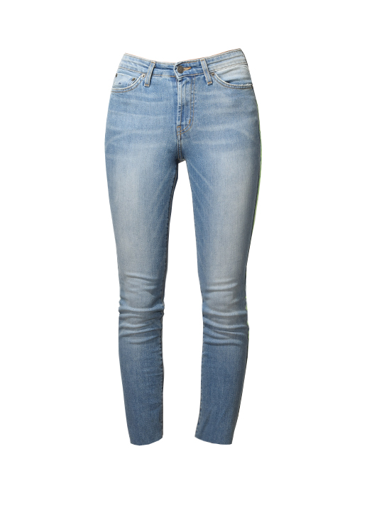 JET John Eshaya Neon Side Stripe Skinny Jeans in Blue
