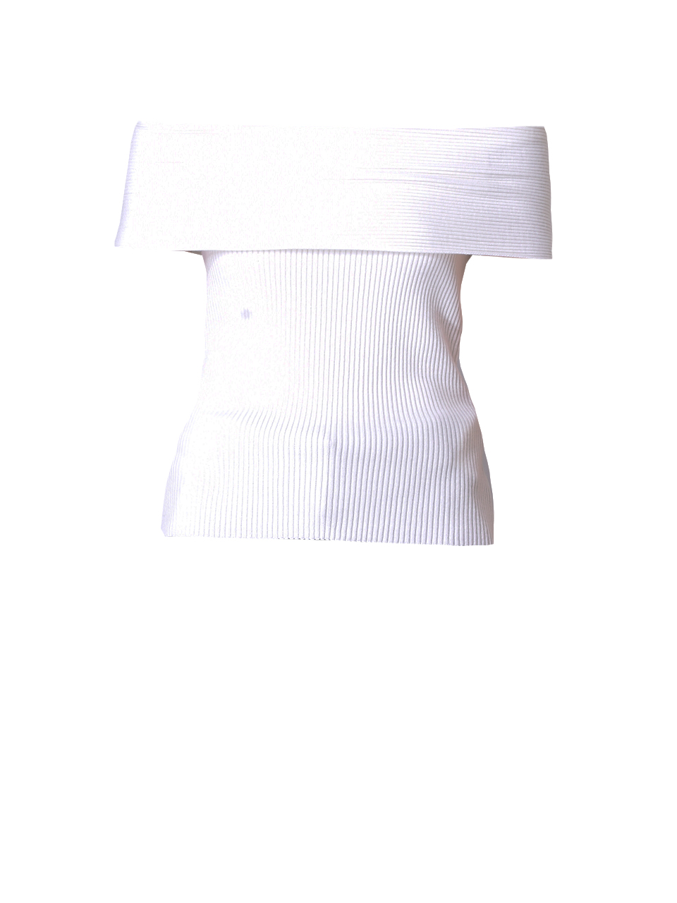 3.1 PHILLIP LIM Ribbed Off The Shoulder Pullover In White