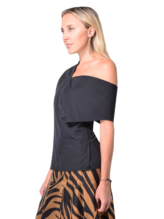 3.1 PHILLIP LIM One shoulder Wool Top In Black