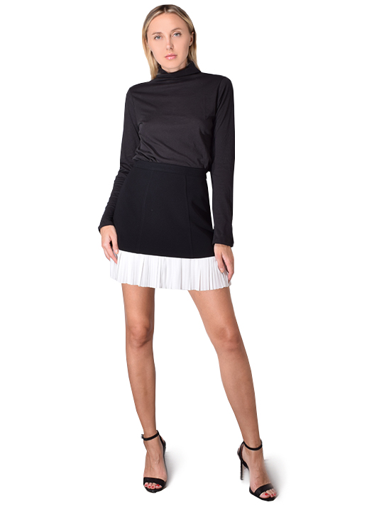 BLDWN Blair Turtleneck Top In Black
