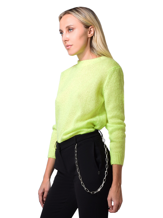 Ottod'Ame Giallo fluo pullover in neon