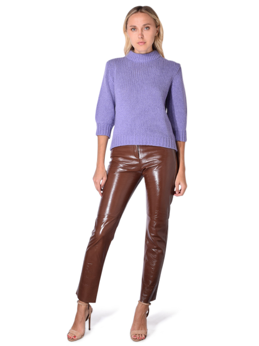 Humanoid Gerald Glow Leather Pants In Walnut